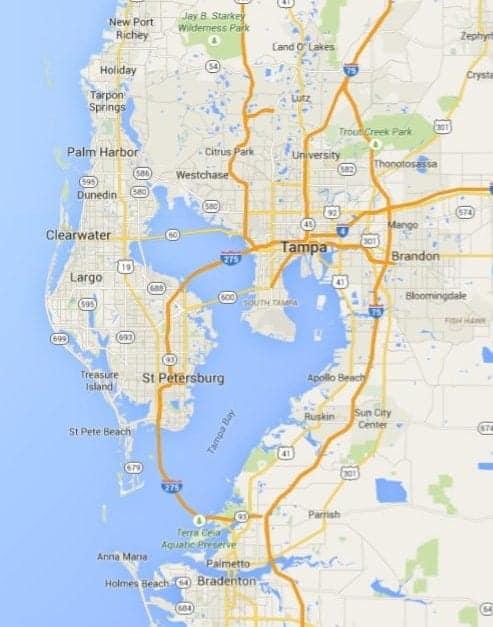 Tampa Florida service area